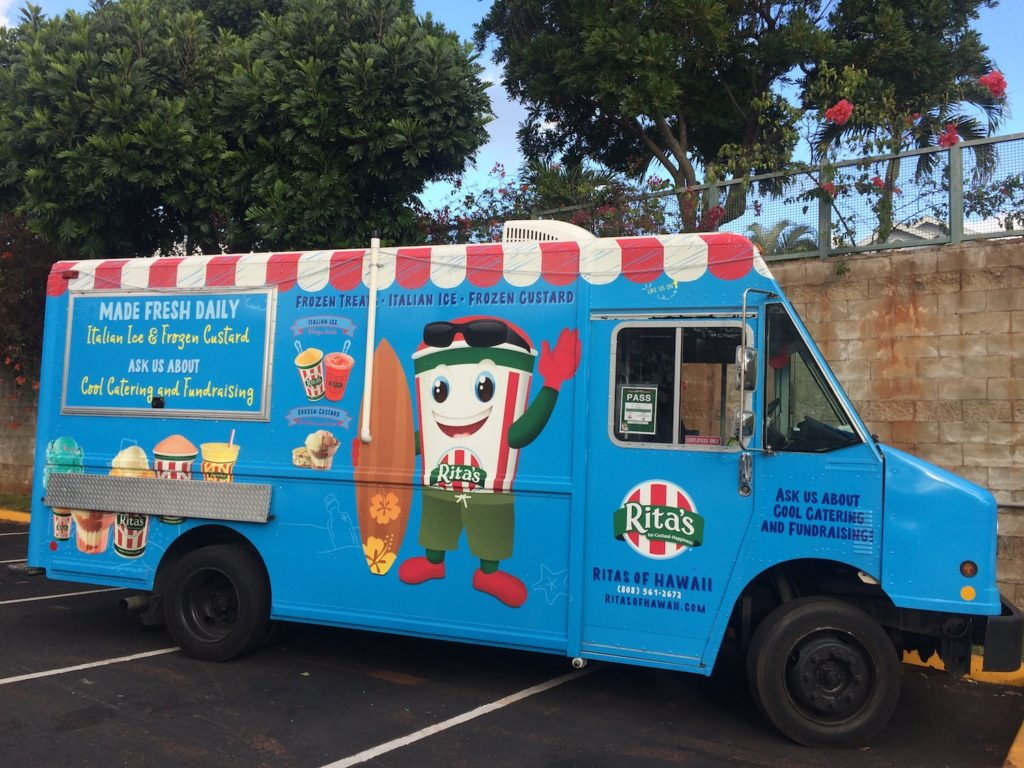 Ritas Italian Ice truck at waikele premium outlets